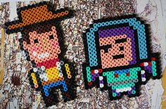 Buzz Lightyear and Woody  Hama beads magnet by Alabauhaus