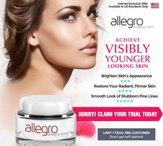 Allegro Anti-aging Cream is a non-greasy cream formulated by advanced science together with skin care experts to provide an easy and hassle free method to eliminate the visible appearance of wrinkles on your skin #Skin #Beauty #Aging