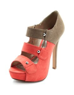 Saw these in yellow in gray on shoe dazzle or just fab. Can't remember but I love them!