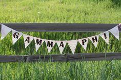 Gamma Phi Beta burlap banner