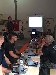 Workshop in Bremerhaven, Germany: practical exercises handling, cutting and installing #Coverlam.
