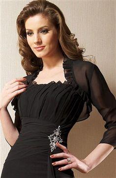 3/4-length Sleeve Chiffon #Bolero & #Shawls Style Code: 06780 $33