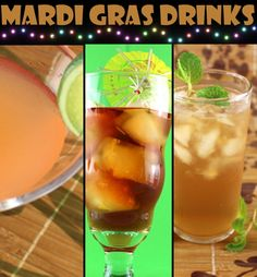 Mardi Gras Drinks :) Check to make sure your liquors are #glutenfree!