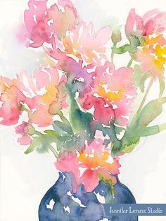 Hello! This is a listing for an 8x10 print of my watercolor painting, Peonies. Its printed on Torchon by Hahnemühle, a heavy watercolor textured paper. Its an open edition and is signed on the back. Prints are shipped flat in a cello bag with cardboard backing inside a cardboard mailer from Central Watercolor Texture, Watercolor Paintings, Washington Square Park, Peonies, Paper Texture, This Is Us, Art Prints, Cello, Etsy