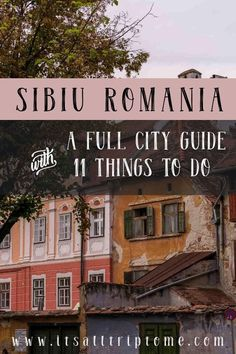 Sibiu was the last city we stopped in our amazing Romanian road trip. Don't miss this beautiful city in Transylvania. Read on for a full city guide with 11 things to do in this picturesque town of Romania. Travel Tours, Nightlife Travel, Shopping Travel, Travel Europe, Travel Guides, Sibiu Romania, Stuff To Do, Things To Do, European Travel Tips