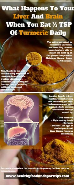 What Happens To Your Liver And Brain When You Eat ½ TSP Of Turmeric Daily