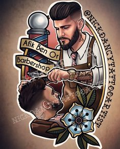 Image may contain: one or more people Barber Poster, Barber Logo, Barber Tattoo, Barber Store, Barber Shop Decor, Barber Man, Best Barber, Andrea Barber, Hair Salon Logos