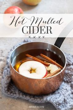 22 minutes · Vegan Gluten free · Serves 8 · Hot Mulled Cider is a delicious autumnal or holiday drink, incredibly quick and easy to prepare, and a perfect way to warm up chilly nights. Christmas Sweets Recipes, Holiday Snacks, Holiday Drinks, Christmas Cookies, Christmas Ideas, Merry Christmas, Fall Recipes, Holiday Recipes, Hot Apple Cider