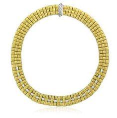 Roberto Coin Appassionata 18K Gold Diamond Necklace
