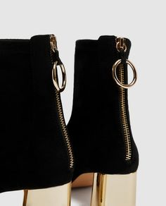 Image 8 of ANKLE BOOTS WITH METALLIC HEELS from Zara