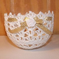 crochet bowl Wedding Favors