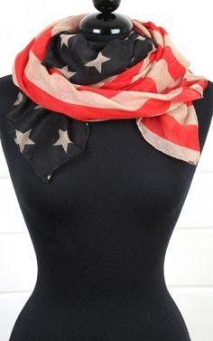 American Flag Scarf MULTI