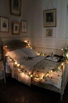 romantic wreath of lights