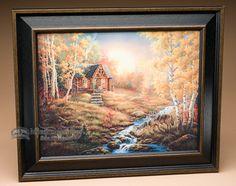 "Rustic Cowboy Art 17.75""""x14.75"""" -Wolf Creek Crossing (a45)"