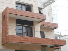 HPL Fundermax Stylam Exterior Cladding Elevation Contractors in Delhi - Cladding Design, Exterior Wall Cladding, Facade Design, Door Design, Front Design, Front Elevation Designs, House Elevation, House Gate Design, Villa Design