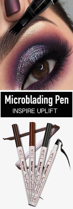 "Waterproof Microblading Pen - ★★★★★ The ""Waterproof Microbladin. - Phare a paupiere Beauty Make-up, Beauty Hacks, Hair Beauty, Beauty Tips, Make Up Tutorials, Eyeshadow Looks, Elf Eyeshadow, Skin Makeup, Makeup Brushes"