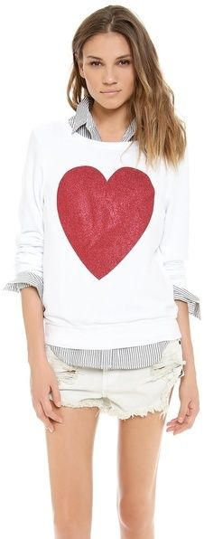 Wildfox Couture Sparkle Heart Baggy Beach Top on shopstyle.com
