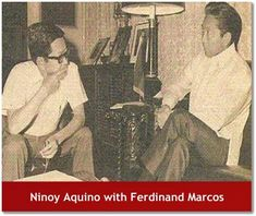 Ninoy Aquino with Ferdinand Marcos Ferdinand, People Power Revolution, Philippine Army, President Of The Philippines, Rare Historical Photos, Power To The People, Latest Books, History Facts, Current Events