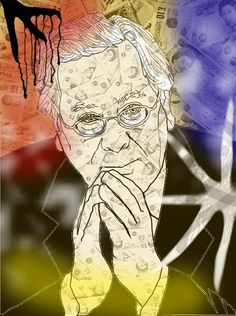 Mondrian Merv King, Illustration, Gareth Pritchard, Digital Art, GIMP, as of today and forever. Quarter notes don't meant a fing, action, time & vision.