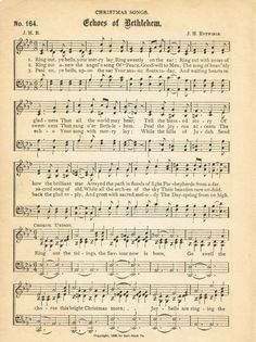 Free printable antique Christmas music page - O Come, All Ye Faithful - from Knick of Time Free Christmas Music, Christmas Sheet Music, Xmas Music, Christmas Images, Christmas Art, Christmas Projects, Christmas Nativity, Beautiful Christmas, Antique Christmas