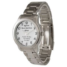 Retired Court Services Clerk Wristwatch - fun gifts funny diy customize personal