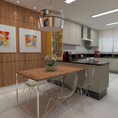 Cozinha, destaque para a composição da mesa acoplada à ilha e parede revestida de madeira que contribuiu para iluminar o ambiente!!! Projeto by @marilia.arq e @camila_fleckarq #kitchen #cocina #cozi #cozinha #interiordesign #planejados #wood #madeira #gourmet #interiores #decoracion #design #instaarch #instaarq #arquiteta #homedecor #architect #decora #decor #fabiarquiteta #fabiarquitetainspira