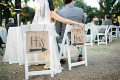 signs for chairs!