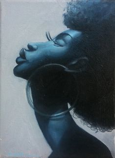 Black Art of Beautiful Black Women With Natural Hair by Frank Morrison. CodeBlack Art