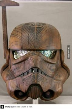 Handmade helmet..so pretty!