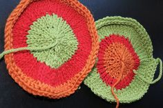 How to knit a flat circle -- using a little math.
