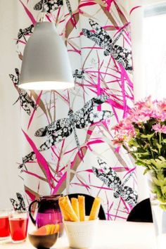 Vallila Interior Korento pink curtain