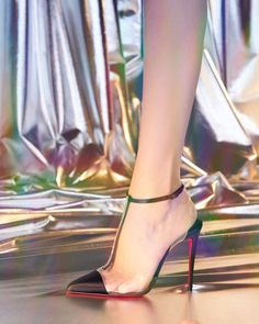"""4299999d89c8 Christian Louboutin on Instagram  """"Less is more. Show off some skin with   ChristianLouboutin s barely there Nosy Strass  RedSoles  SS19"""""""