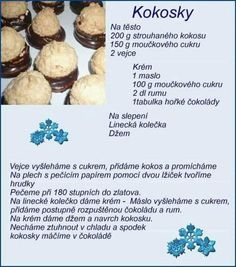 Vánoční cukroví v obrazech :: Tipy na Výlety a zábava Slovak Recipes, Czech Recipes, Sicilian Recipes, Sicilian Food, Christmas Sweets, Christmas Baking, Baking Recipes, Cookie Recipes, Yummy Treats