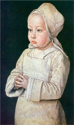 Portrait of Suzanne of Bourbon - Jean Hey 1498.