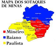 Pseudolinguista: Mapa dos sotaques em Minas Gerais