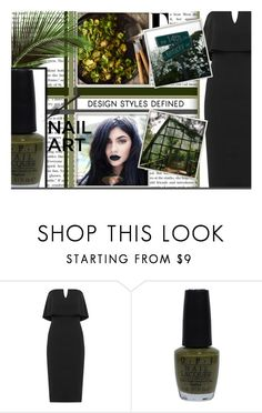 """Green With Envy: Wintery Nail Polish"" by mbtherrell ❤ liked on Polyvore featuring beauty, WearAll, OPI, polyvorecontest and nailedit"