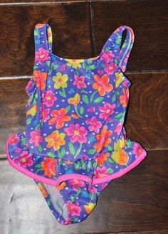 935917bab4844 EUC Nordstrom Baby Infant Girls ONE PIECE SWIMSUIT WITH RUFFLES Sz. 18  months