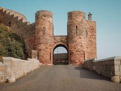Entrance gate to Bamburgh Castle Dean Castle, Castle House, Carlisle Castle, Outlander Locations, Wentworth Prison, Scotland Tours, Edinburgh City, Prague Castle, Filming Locations