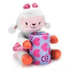 "Doc Mcstuffins Lambie Plush & Blanket Set imported, Lambie plush: polyester, 9"" h, spot clean.  Blanket: fleece, machine wash 30"" x 30"", ages 2 and up $19.99"