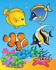Four Fishes Lámina