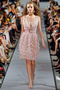 By far the most beautiful piece from Oscar de la Renta Spring 2012.