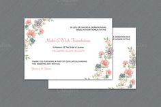 Wedding Favor Donation Card Template @creativework247