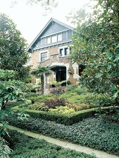 Elements of your home sometimes provide clues about where to take the landscaping: http://www.bhg.com/gardening/landscaping-projects/landscape-basics/front-yard-landscape-secrets/?socsrc=bhgpin031214plantatapestry&page=15