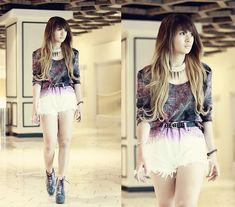 Her hair and shoes <3    On my way (by Anastasia Siantar) http://lookbook.nu/look/3571711-On-my-way