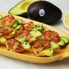 Deliciously diverse, Avocados from Chile make everything that's good taste even better. Try it with these shrimpcado bites! Deliciously diverse, Avocados from Chile make everything that's good taste even better. Try it with these shrimpcado bites! Seafood Appetizers, Healthy Appetizers, Seafood Recipes, Appetizer Recipes, Cooking Recipes, Healthy Recipes, Cooking Cake, Pan Cooking, Cooking Pasta