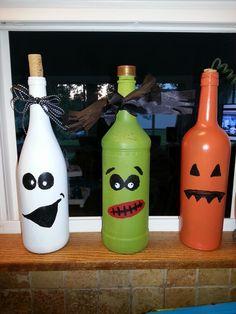 Bottle Halloween decor / craft
