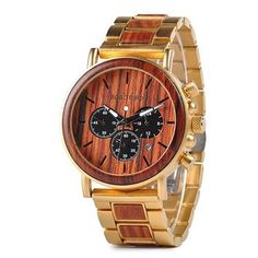 BOBO BIRD Business Men Watch Metal Wood Wristwatch Chronograph Date Display with Gift Box relogio masculino Case Diameter: Band Width: Band Length: Movement: Quality Quartz Movement Mirror Material: Hardlex Case Material: Wooden Metal Watch Groomsmen Gifts Unique, Wooden Man, Wooden Watches For Men, Hand Watch, Cool Watches, Unique Watches, Elegant Watches, Women's Watches, Stainless Steel Watch