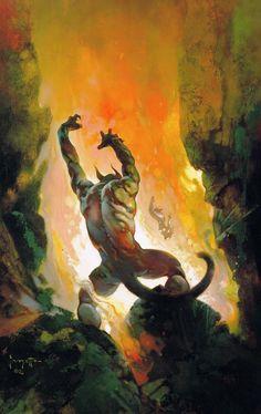 FRANK FRAZETTA - Swords Against Darkness edited Andrew J. Offutt - 1990 Zebra Books