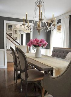 Nice 75 Fancy French Country Dining Room Decor Ideas https://insidecorate.com/75-fancy-french-country-dining-room-decor-ideas/