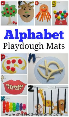 Alphabet Playdough Mats (FREE Printable Mats) from This Reading Mama